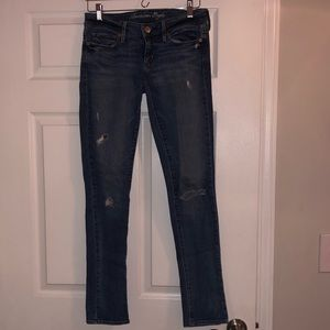 American Eagle Skinny Stretch Ripped Jeans